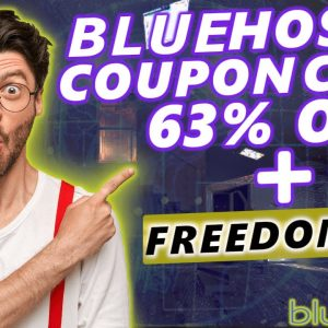 Bluehost Coupon Code/Discount/Promo [67% OFF] + FREE Domain Name!